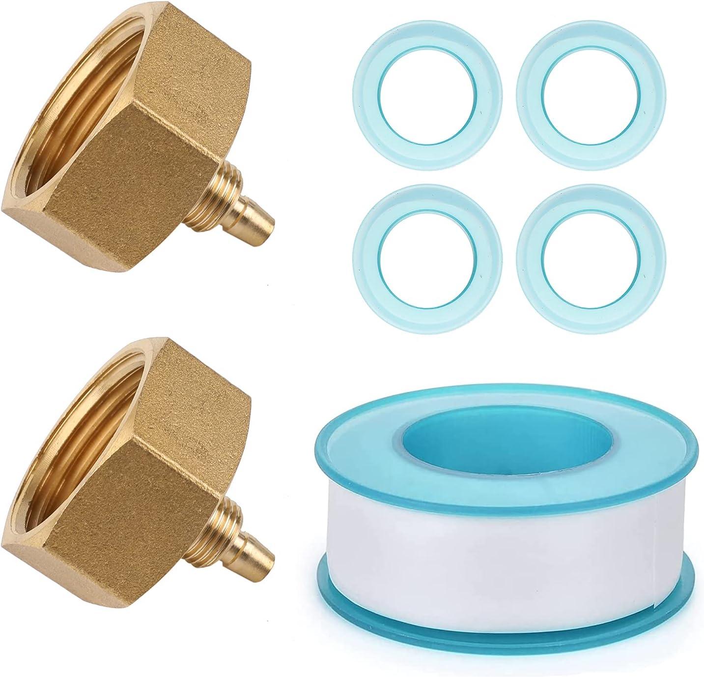 Garden Hose Adapter, 3/4'' to 1/4'' Hose Adapter, Convert 3/4