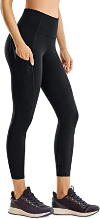 CRZ YOGA Women's Naked Feeling High Waisted Workout Pants Tummy Control Yoga Leggings with Pockets-23 inches