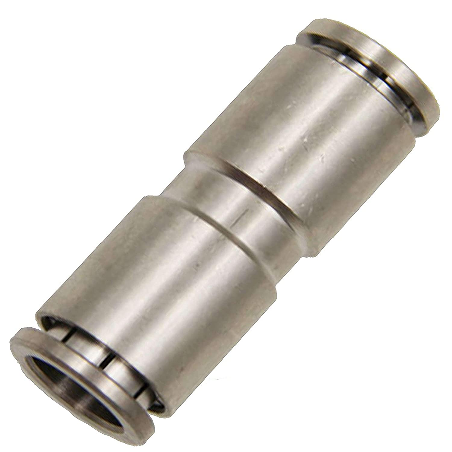 Utah Pneumatic Pack of 2 Nickel-Plated Brass Push to Connect Fittings 1/4'Od Straight Connector Push Fit Fittings Tube Fittings Pneumatic Fittings Air Line Fittings Tube (1/4' Straight Brass)