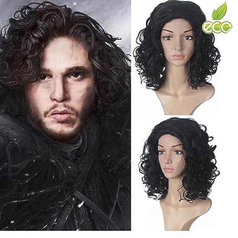 Morningsilkwig trenzado pelucas de pelo sintético de 40cm largo Longitud de cancion de hielo y fuego