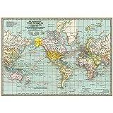 "Cavallini Decorative Paper - World Map #3 20""x28"" Sheet"