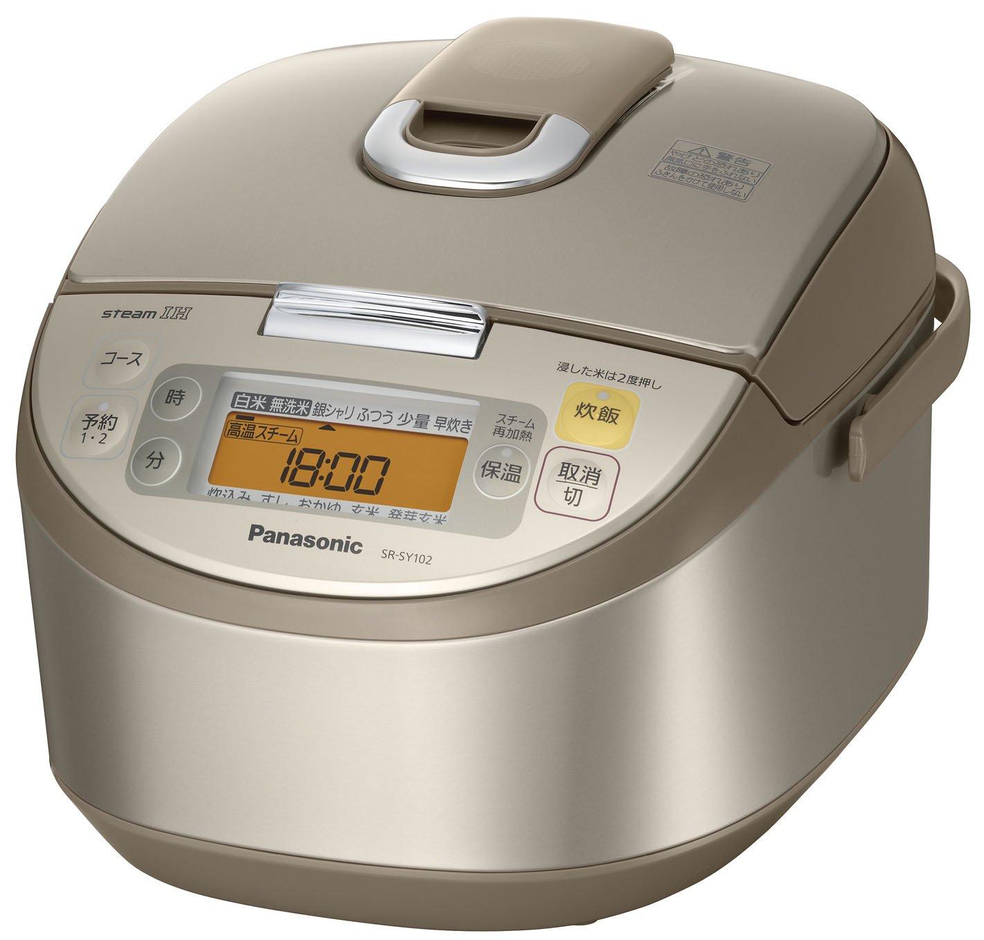 パナソニック 大圧力銅釜 スチームIHジャー炊飯器 5.5合 サテンゴールド SR-SY102-N   B001EULWD4