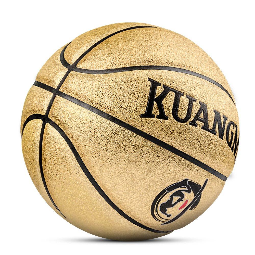 Kuangmi reinigen Basketball Ball Größe 5 Für Kinder Kinder Indoor Outdoor Verwendung Gold