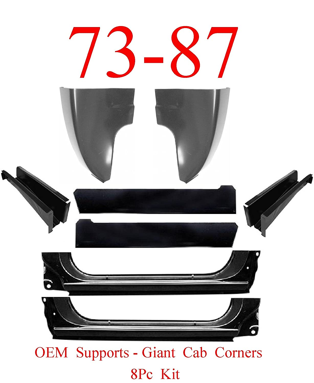73-87 OEM Extended Chevy 14Pc Cab Repair Kit