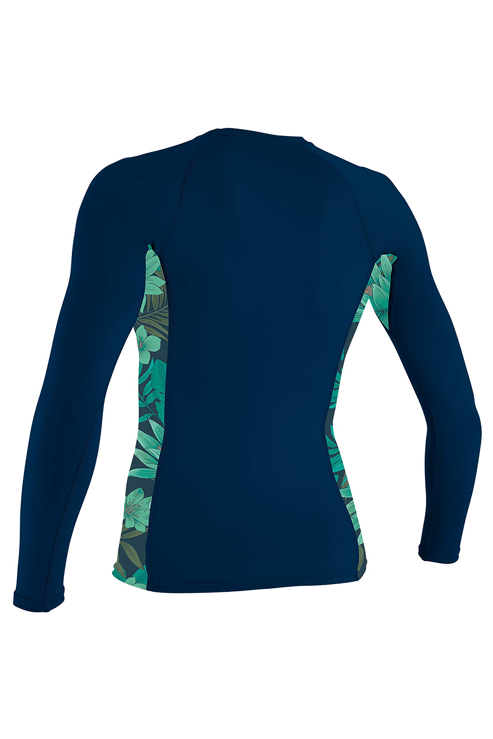 O'Neill Side Print Women's Long-Sleeve Rashguards - Abyss/Faro/Medium