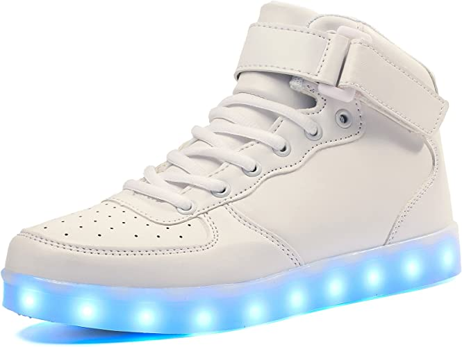 Voovix Kids LED Light Up Shoes USB Charging Flashing High top Sneakers with Remote Control for Boys and Girls