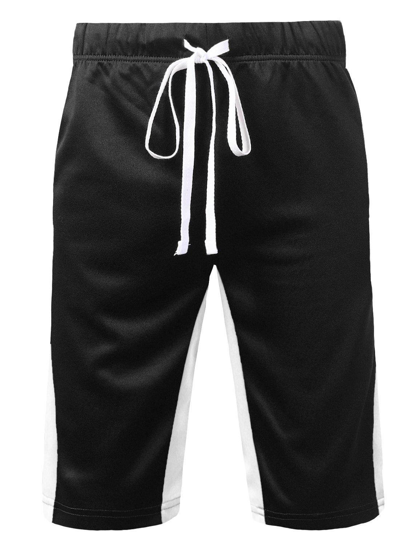 URBANCREWS SHORTS メンズ B07CSFSSQ2 1X|Ambs051_blackwhite Ambs051_blackwhite 1X