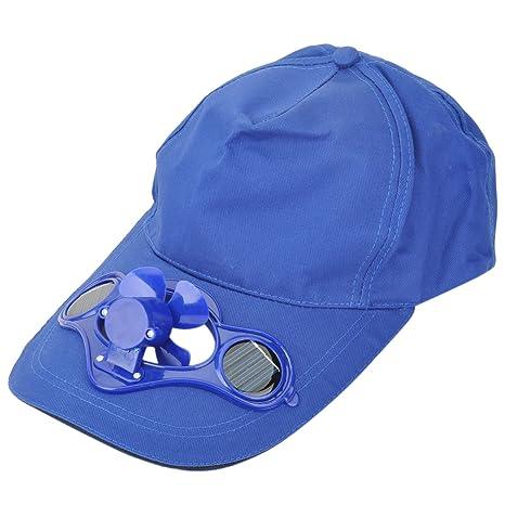Verano Deportes Cap gorra con ventilador Solar para actividades al ...