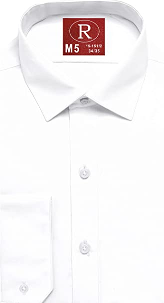 """New Mens Quality White Dress Shirts in all sizes 14/"""" 19.5/"""" Double Cuff"""