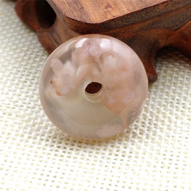 25x8mm Genuine Natural Orange Cherry Agate Gemstone Round Donut Pendant AAAAA