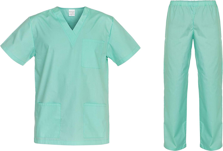 DINOZAVR Cesare Uniforme Medica Unisex Set con Camice e Pantalone