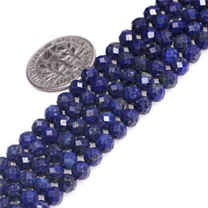 6 pcs ON SALE 50 /% Exclusive Quality Natural Lapis Lazuli Micro Faceted Round Beads 12 mm approx