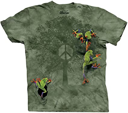 4bd83feaf2f9e The Mountain Men's Peace Tree Frog Short Sleeve T-Shirt
