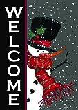Toland Home Garden Snowman Welcome 12.5 x 18 Inch Decorative Winter Christmas Double Sided Garden Flag
