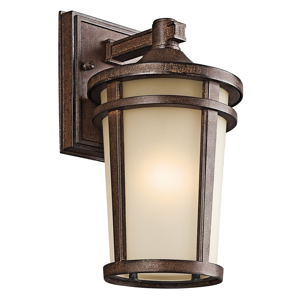 Kichler 49071BST One Light Outdoor Wall Mount   Wall Porch Lights    Amazon.com