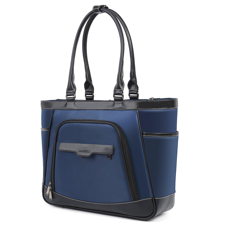 UtoteBag Laptop Tote Bag 15.6 inch Laptop Bag Briefcase Water Resistant Shoulder Bag Handbag for Computer Laptop Notebook Work Business School Travel Bag (Black)