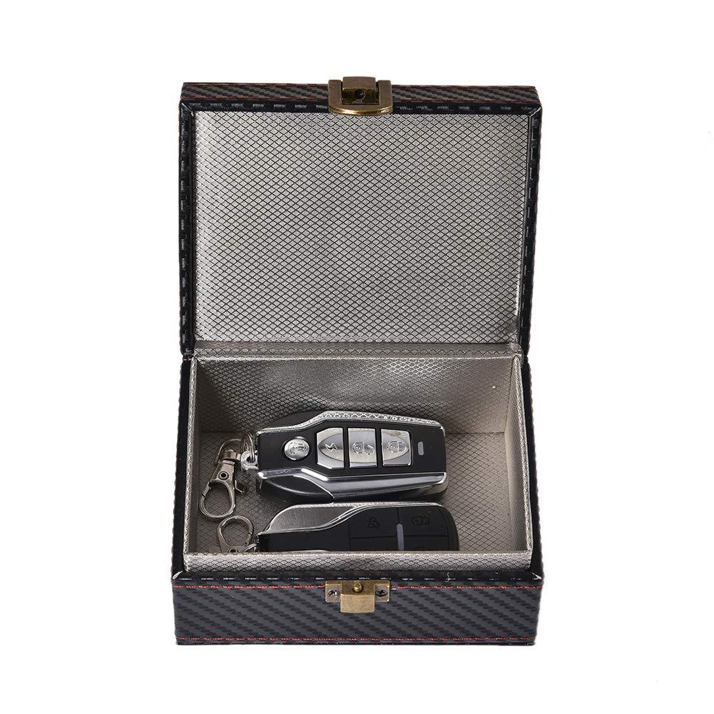 Ntribut Car Key Fob Storage Box Car Key Signal Blocker Box Faraday Box Safe Security For Remote Smart Keys Cards Home 11.5X9X5.5cm