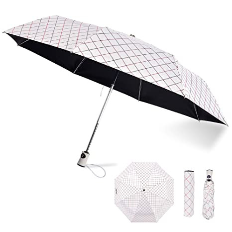 eaa82a75a8f5 Sun Rain Umbrella Compact Travel UV Umbrella Auto Open Close Golf Umbrella  with 99% UV Protection for Women Girl Folding Umbrella Windproof, Rainproof