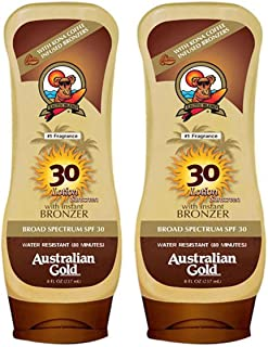 product image for Australian Gold Spf 30 Broad Spectrum Moisture Max Sunscreen Lotion with Kona Bronzers, 8 Ounce (Pack of 2) (2 Pack, Spf 30)