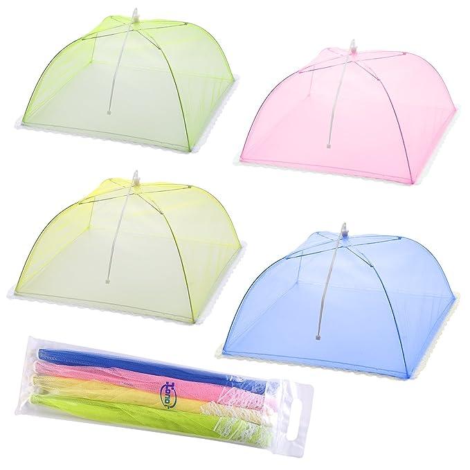 Écran en maille Nourriture Coque tentes Parapluie–Lot de 4écrans pour garder Bugs et s'Envole à partir de nourriture chez les pique-niques, barbecue et bien plus encore–