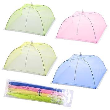 Mesh Screen Food Cover Tents - Set of 4 Umbrella Screens to Keep Bugs And Flies  sc 1 st  Amazon.com & Amazon.com | Mesh Screen Food Cover Tents - Set of 4 Umbrella ...