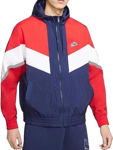 Dependencia federación Necesitar  Nike Windrunner+ - Chaqueta cortavientos para hombre con capucha, color  rojo, cód. CZ0781-410: Amazon.es: Ropa y accesorios