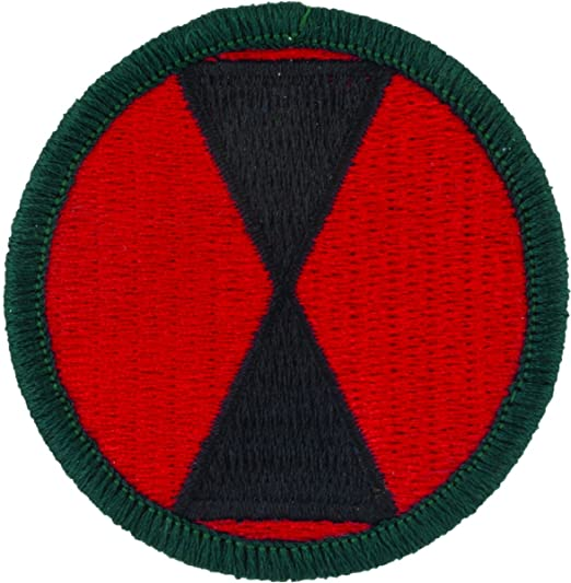 Amazon.com  7th Infantry Division Patch (Full Color (Dress))  Clothing ed2e6403a9b
