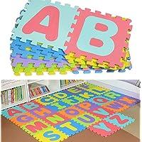 Bloodyrippa Kids Puzzle Alphabet Play Mat, Color Interlocking EVA Foam Floor Mat, 26 Pieces