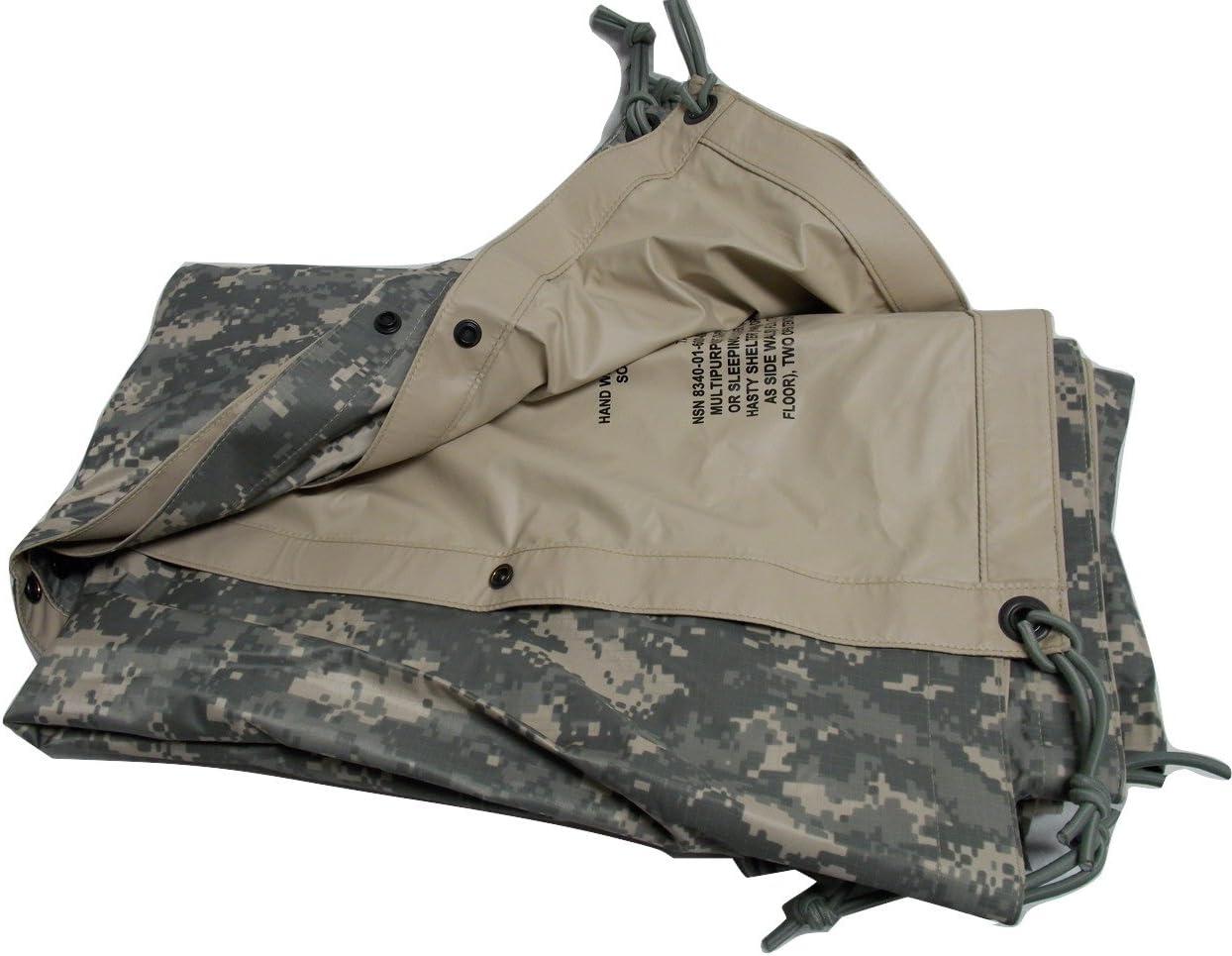 USGI Army FIELD TARP Tarpaulin ACU reversible 92X82 Waterproof Cloth Shelter VGC