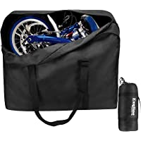 Exqline Fiets transporttas, 1680D Oxford vouwfiets tas grote draagtas fiets transport voor 14-20 inch vouwfiets binnen…