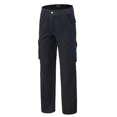 Krumba Men's Cotton Casual Cargo Classical Pant at Men's Clothing store