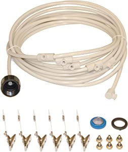 "SPT SM-1406: 1/4"" Misting Cooling Kit with 6 Nozzles (Made in USA)"