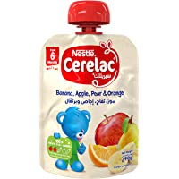 Nestlé CERELAC Fruits Puree Pouch Banana Apple Pear Orange, 90g