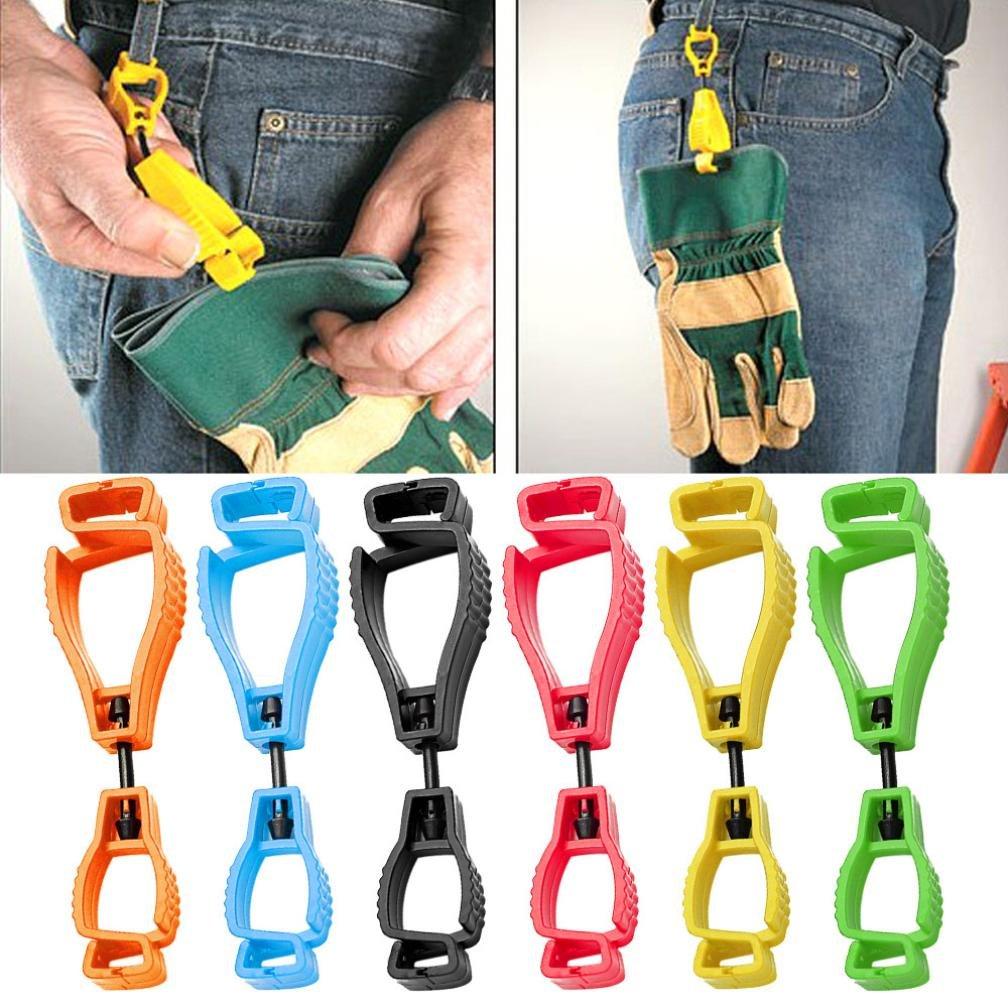 WensLTD Portable Glove Clip Holder Hanger Guard Labor Work Clamp Grabber Catcher Safety Work Hot (Orange)