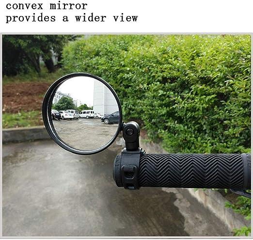 Espejo de bicicleta, mini espejo retrovisor universal para montar ...