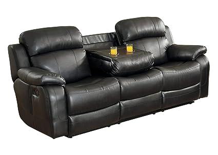 Amazon.com: Manque - Sofá reclinable doble con soporte para ...