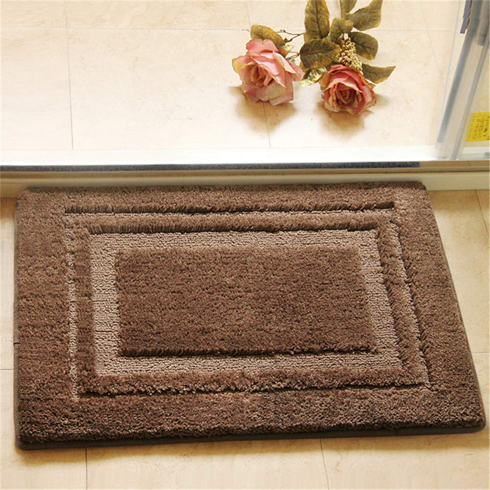 Eanpet Soft Bath Rug for Bathroom Microfiber Spa Bathroom Accent Mat 20x32 inches Non-Skid Pure Cotton Area Rug Extra Plush Absorbent Bathmat for Bath Tub Shower - Brown