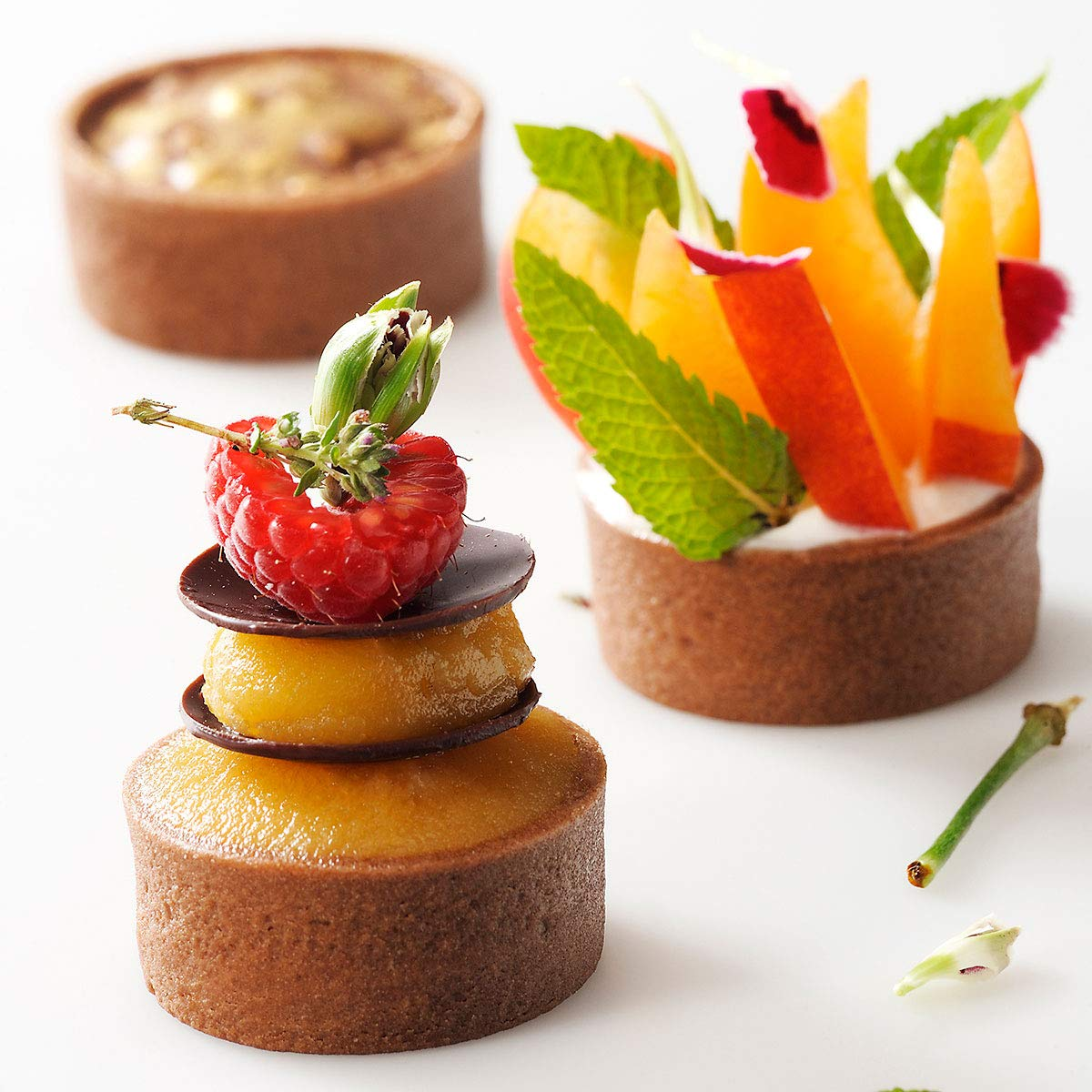 Mini Round Chocolate Tart Shell, 1.61'' - 245 pcs by Pastry Chef's Boutique (Image #1)