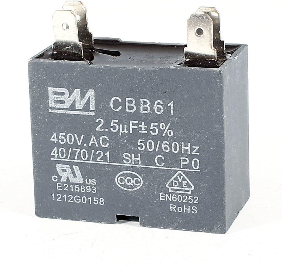 Ventilador de techo CBB61 AC450V 2.5uF 4 Botones de funcionamiento del motor de Trabajo de condensadores Gray