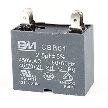 CBB61 AC450V 2.5uF Deckenventilator 4 Pins Motor Run Arbeits ...