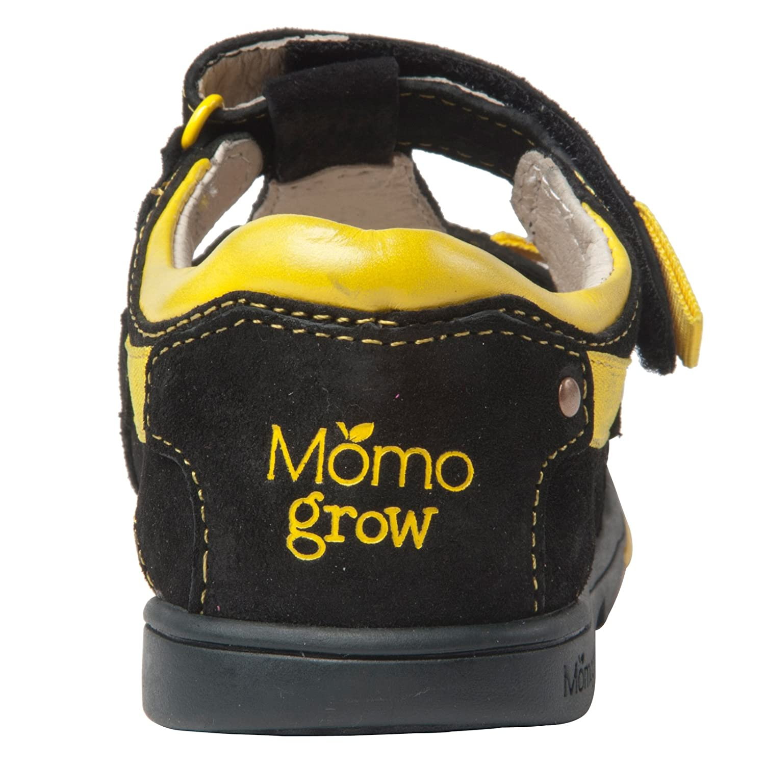 Momo Grow Boys Double-Strap Leather Sandal Shoes
