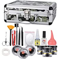 Eyelash Extension Tool Set, 23pcs Professional False Eyelashes Extension Kit with Container Extension Practice Exercise…