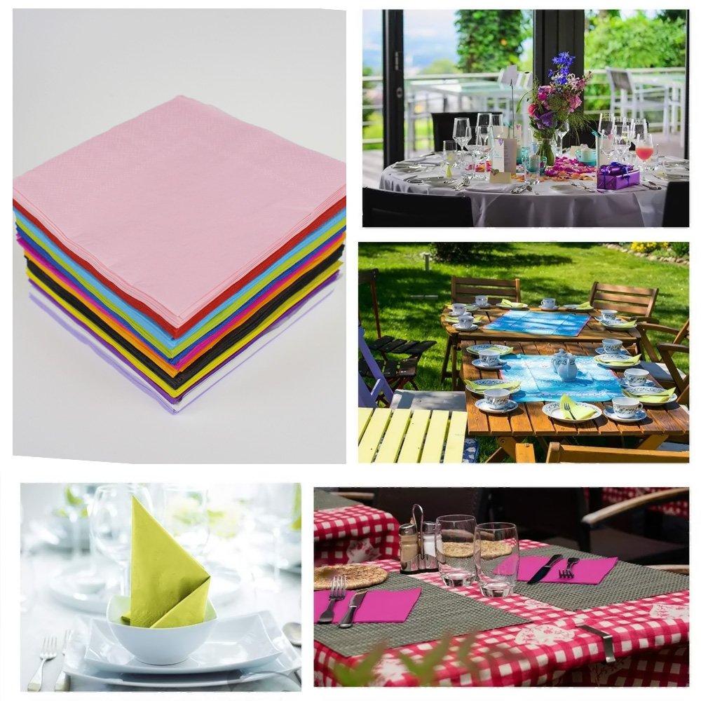 Yotako 120/pezzi cocktail tovaglioli color tovaglioli di carta a 2/veli per feste 12/colori misti