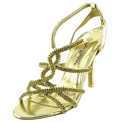 Kick Footwear - Damen party Sandaletten Abend Hochzeit Sandalen Abend Schuhe