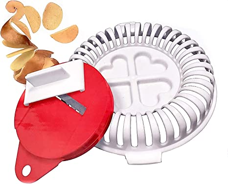 Healthy Microwave Potato Chip Maker - (No Oil Required) - The Ultimate Home Baking Tool for Easy, Low Mess, Homemade, Fat Free Apple or Potato Chips BPA Free