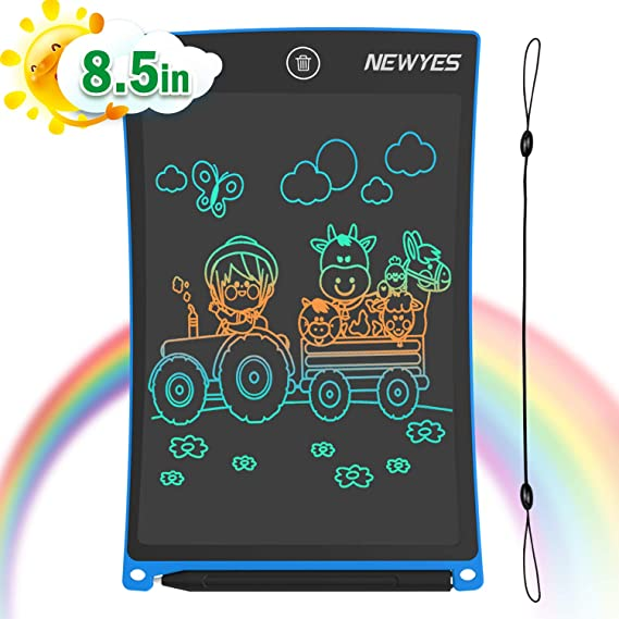 YonCog Creative 8.5 Inches Colorful Doodle Board LCD Screen Writing Tablet Magnetic Drawing Board Increase Creativity Color : Picture Color, Size : 8.5 inches