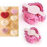 2 palline per fare pompon a forma di cuore per lanugine Weaver-Crafts-Kit di attrezzi per il fai da te