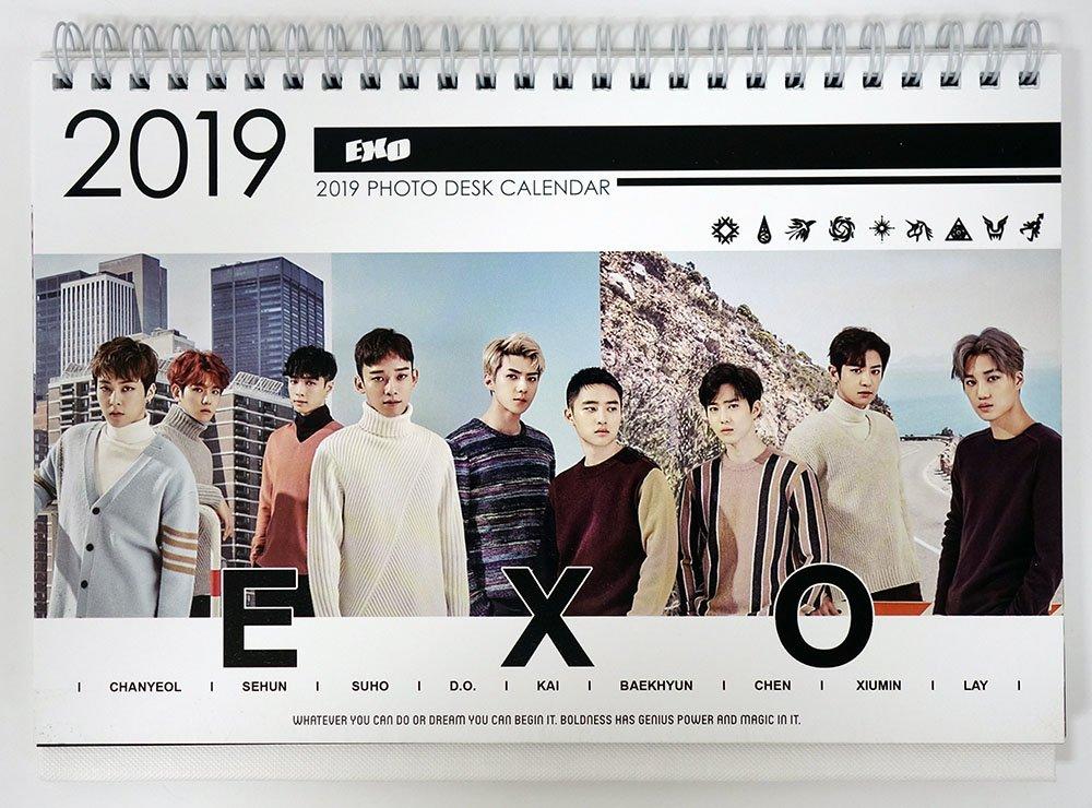 Sehun Exo 2018 2019 Photo Desk Calendar K Pop Sehun Amazon Com