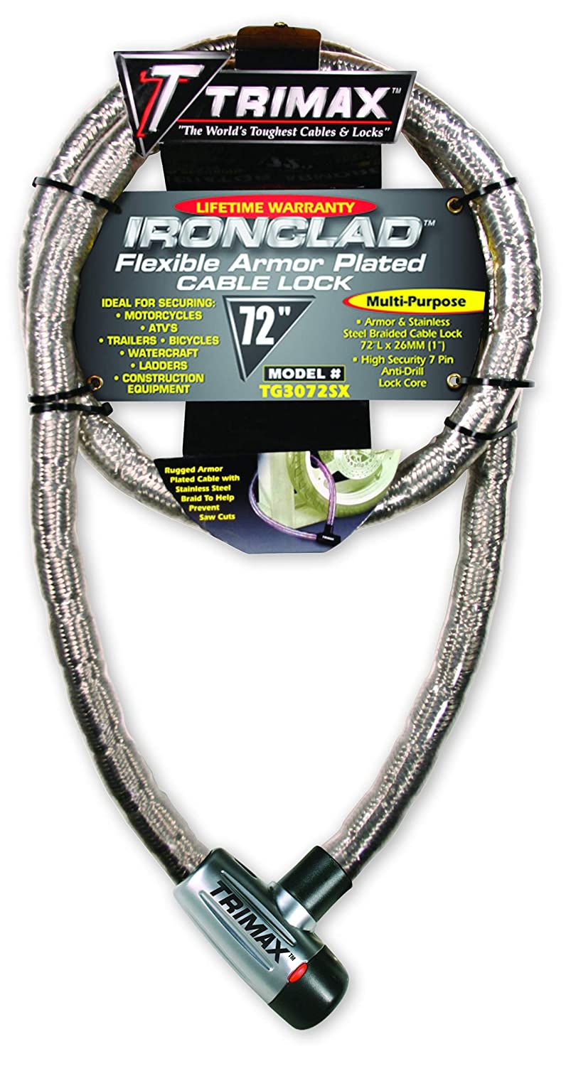 Trimax TG3072SX Supermax Security Armor Plated 72 x 26mm Stainless Steel Locking Cable
