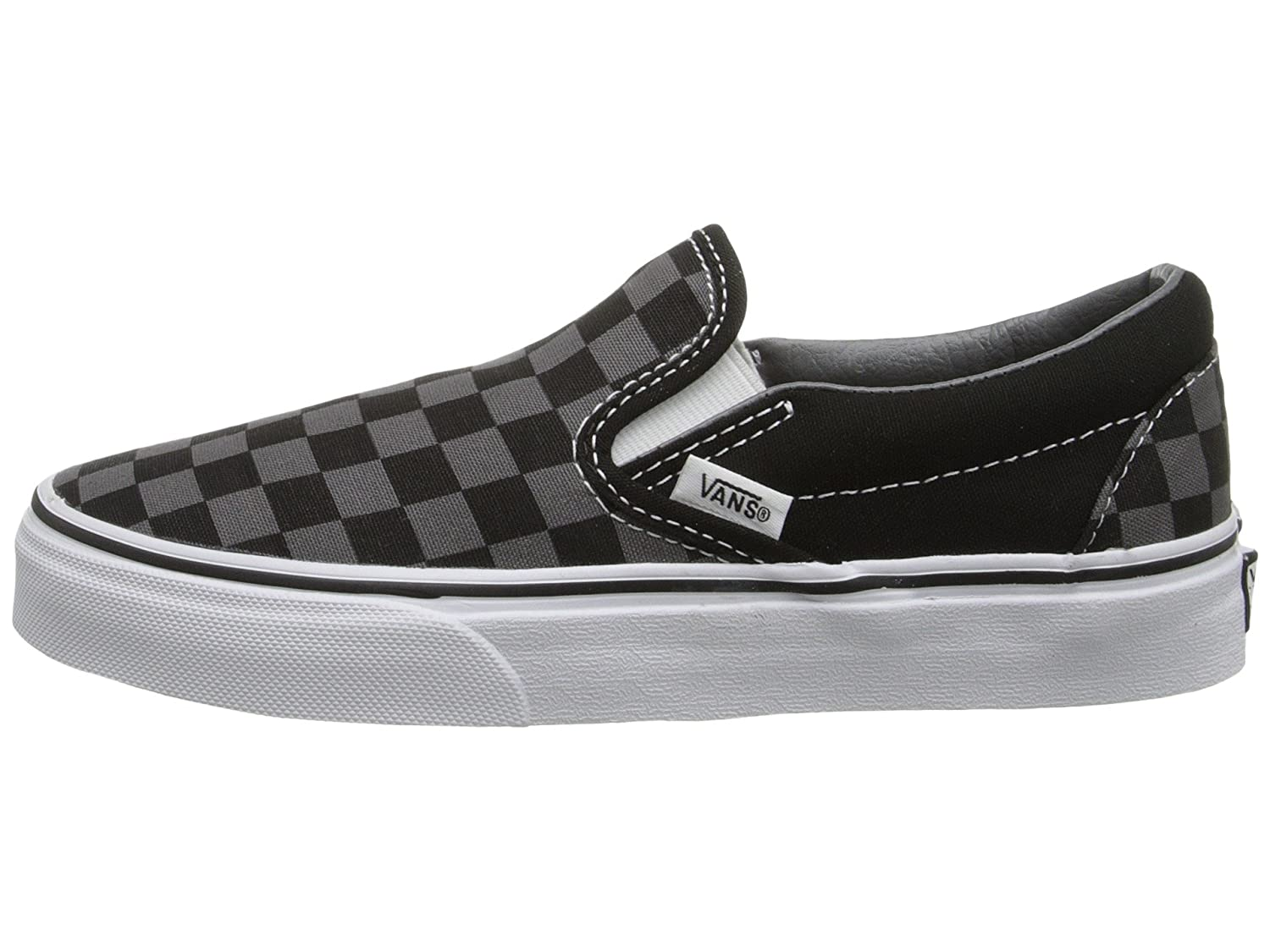 Vans Men's Classic Slip On (Suede & Suiting) Skateboarding Shoes B01M8F2RH7 6 B(M) US Women / 4.5 D(M) US Men|Black/Pewter Checkerboard